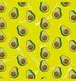 fresh half avocado tasty seamless pattern vector image