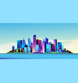 futuristic city day vector image
