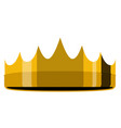 golden crown icon vector image