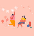 happy pregnant woman celebrate bashower with vector image vector image