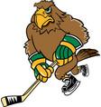 hawk hockey logo mascot vector image vector image