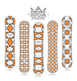 Hipster print for snowboard vector image vector image