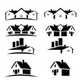 House roofs set for real estate business vector image vector image