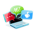 icon for online web chat vector image vector image