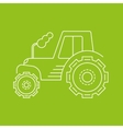 icon or logo of the tractor vector image vector image