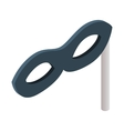 Incognito mask isometric 3d icon vector image