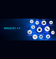 industry 40 banner infographic vector image vector image
