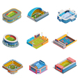 Isometric Images Stadiums Set vector image