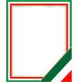 italian flag symbol frame vector image vector image