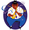 Jazz saxophone player vector image vector image