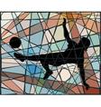 Kick mosaic vector image vector image