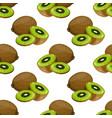 kiwi fruit seamless pattern vector image vector image