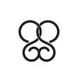 letter s linked loop curve line logo vector image vector image