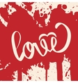 Lettering LOVE For themes vector image vector image