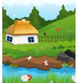 Little House on the banks of the River vector image