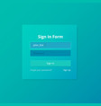 login screen and sign in form template for mobile vector image
