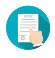 memorandum of understanding mou icon vector image vector image