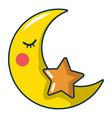 moon icon cartoon style vector image vector image
