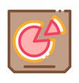 pizza box icon outline vector image