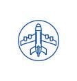 plane landing line icon concept plane landing vector image vector image