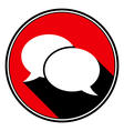 red information icon - white speech bubbles vector image vector image