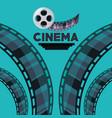 reel with filstrips to short film scene vector image vector image