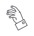 relax hand line icon sign o vector image