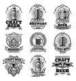 retro beer pub emblems vintage traditional vector image vector image