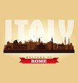 rome italy city skyline silhouette vector image vector image