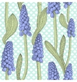 Seamless pattern with grape hyacinth or muskari vector image