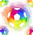seamless pattern with white soccer balls vector image vector image