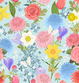 seamless texture with delicate floral design vector image