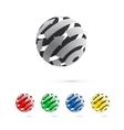 set logo globe icon elements vector image