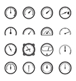 set tachometer icons vector image vector image