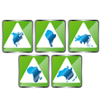 Signs of five continents vector image