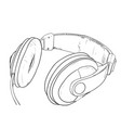 sketch of headphones vector image vector image