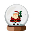 snowball cartoon with santa claus vector image vector image