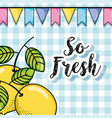 so fresh summer with lemons cartoons vector image vector image
