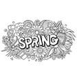 spring hand drawn cartoon doodles vector image vector image