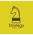 strategy isolated icon design vector image