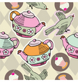 tea party pattern vector image