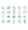 technology line icons include vector image