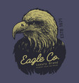 Tee print design with eagle drawing