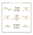 Thanksgiving gold lettering set vector image vector image