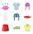 traditional clothes icon set cartoon style vector image