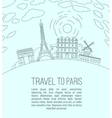 Travel to Paris 07 A vector image vector image