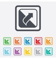Turn page sign icon Peel back sheet corner vector image vector image