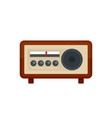 vintage radio icon flat style vector image