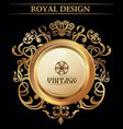 vintage royal design element vector image vector image