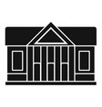 window courthouse icon simple style vector image vector image